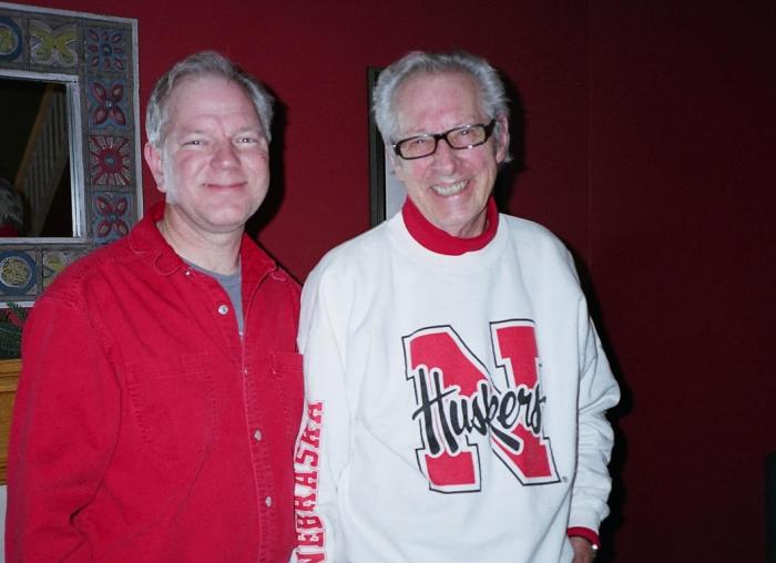 Me and Budd after Nebraska's Gator Bowl triumph.