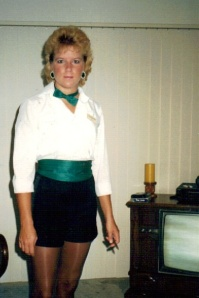 Julie before going to work at Casa's in 1987.